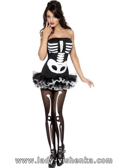 Платье на Хэллоуин - наряд скелета
