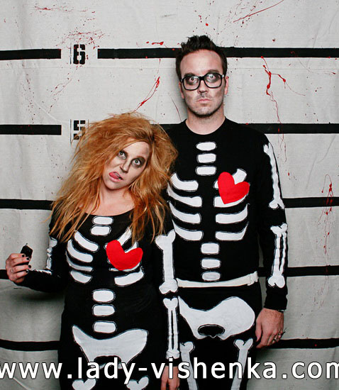 Скелет - костюм для пары на Хэллоуин