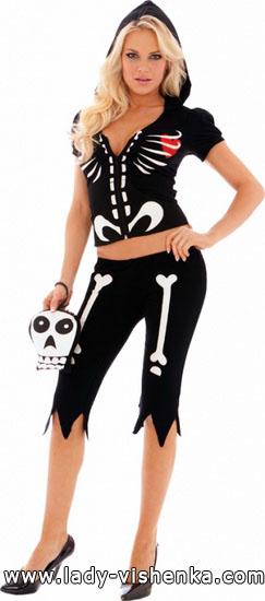 Костюм Скелета на Хэллоуин для девушки - фото