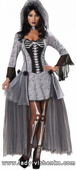 Красивое платье на Хэллоуин - Скелет
