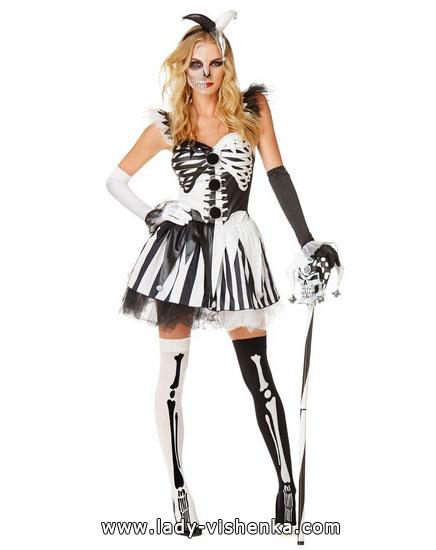 Хэллоуин фото, девушки - костюм Скелета