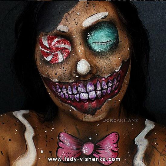 Грим на Хэллоуин - цирковой
