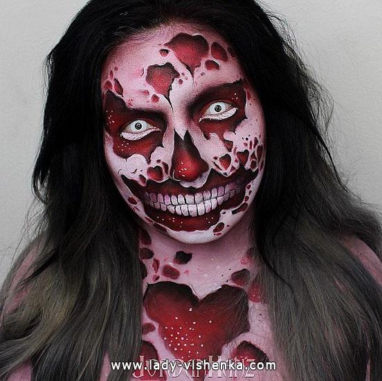 Кровавый грим на Хэллоуин