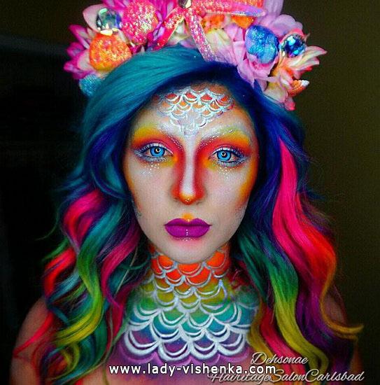 Цветной грим на Хэллоуин