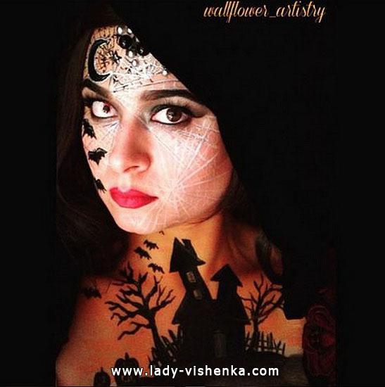 Грим ведьмы на Хэллоуин