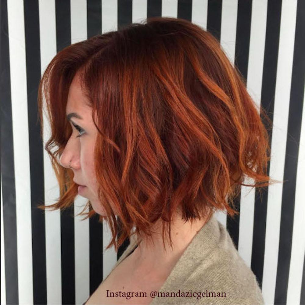 5. Окрашивание волос стеклом