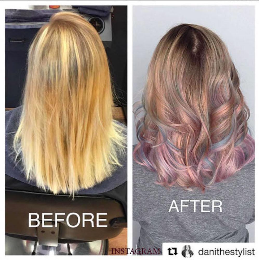 1. Окрашивание волос стеклом