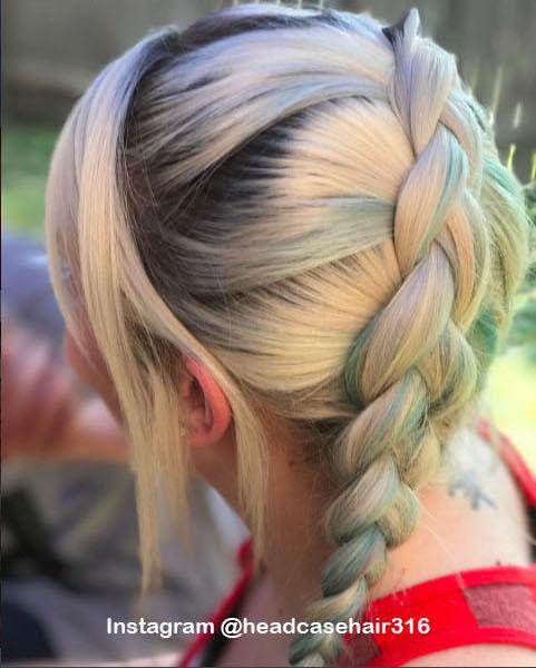 2. Голографические волосы