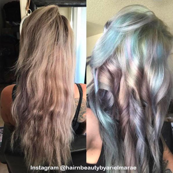 4. Голографические волосы