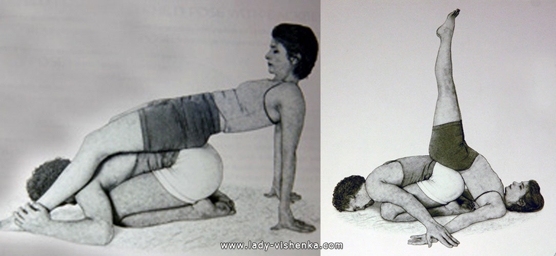 Йога для двоих - Стойка на плечах с поддержкой