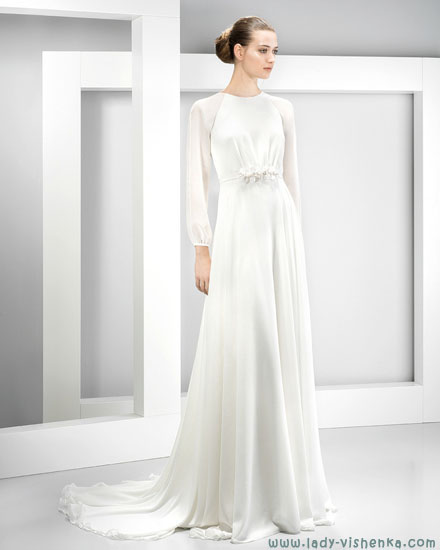 Закрытые свадебные платья фото Jesus Peiro