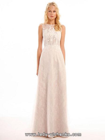 Прямое кружевное свадебное платье - Eugenia Couture