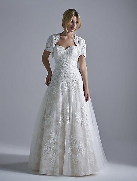 Длинное кружевное свадебное платье 2016 - OPULENCE