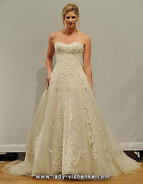 Длинное кружевное свадебное платье 2016 - Paloma Blanca