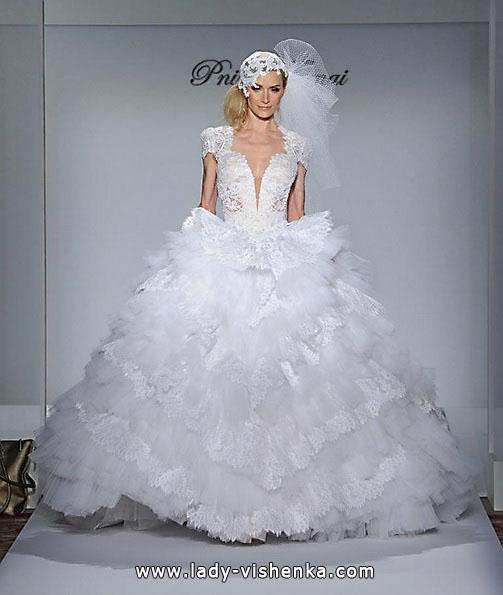 Свадебное пышное кружевное платье - Pnina Tornai