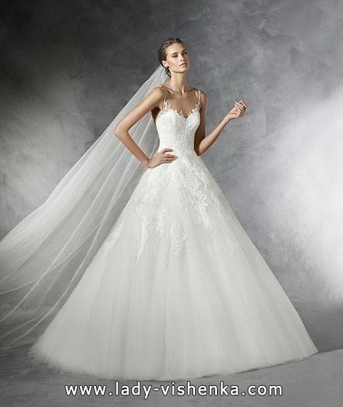Свадебное пышное кружевное платье - Pronovias
