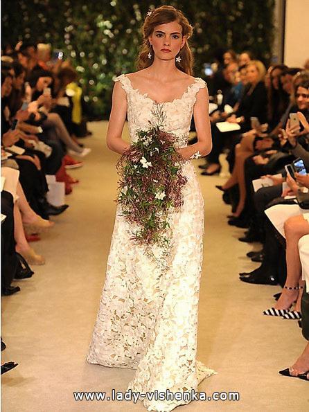 Кружевное свадебное платье Carolina Herrera 2016