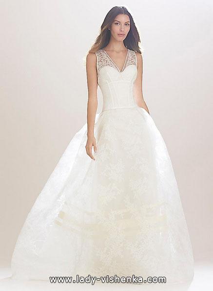Длинное кружевное свадебное платье 2016 - Carolina Herrera