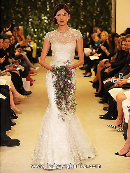 Кружевное свадебное платье - рыбка - Carolina Herrera