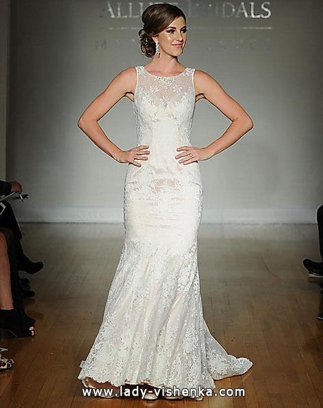 Кружевное свадебное платье - русалочка - Allure