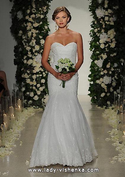 Кружевное свадебное платье - рыбка - Anne Barge