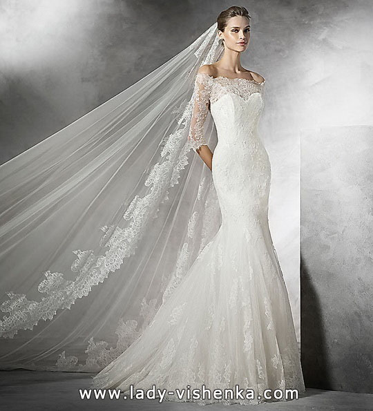 Кружевное свадебное платье - рыбка - Pronivias
