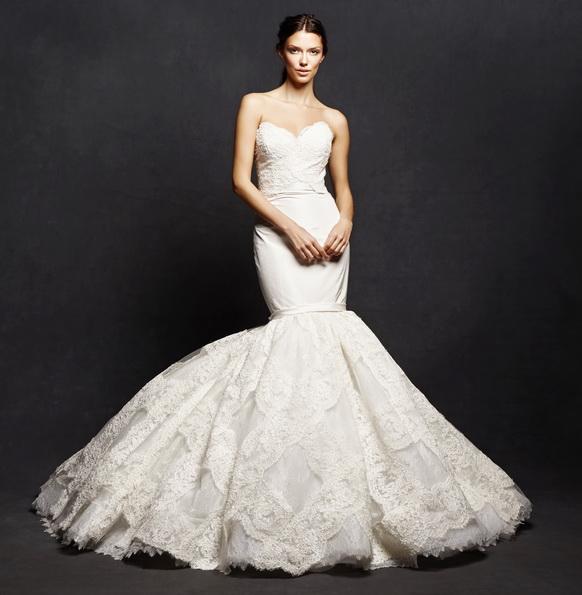 Кружевное свадебное платье - рыбка - Isabelle Armstrong