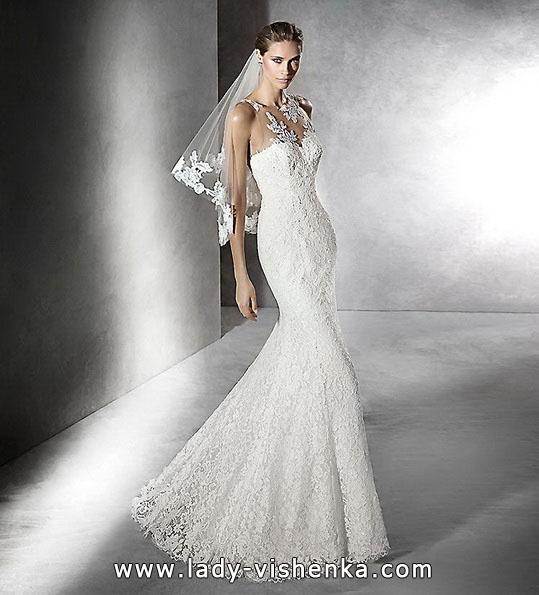 Кружевное свадебное платье - русалочка - Pronovias