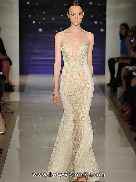 Кружевное свадебное платье - рыбка - Reem Acra