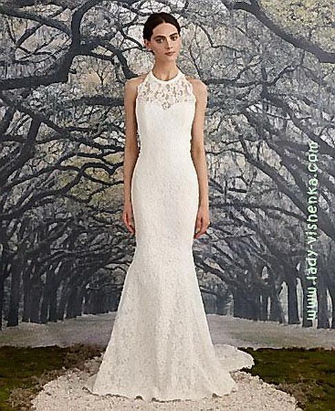 Кружевное свадебное платье - рыбка - Nicole Miller