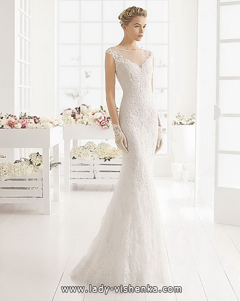 Свадебное платье рыбка с кружевом - Aire Barcelona