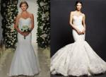 Кружевное свадебное платье - рыбка 2016