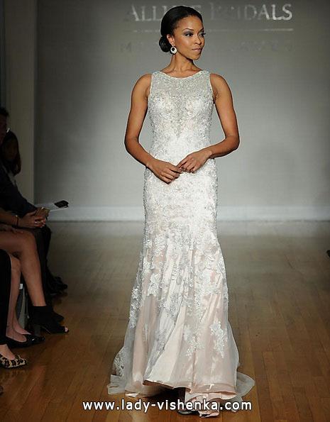Кружевное свадебное платье рыбка со шлейфом - Allure