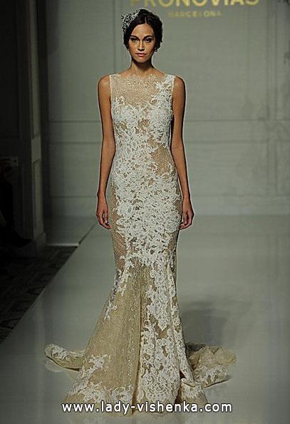 Свадебное платье с кружевом - рыбка