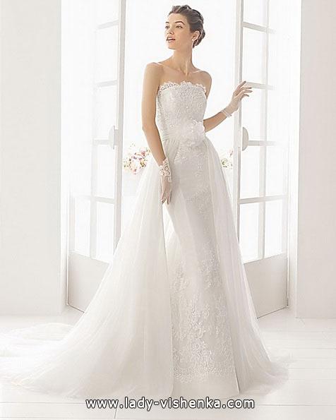 Кружевное свадебное платье русалочка со шлейфом