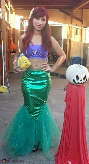 Ариэль - костюм для девушки на Хэллоуин