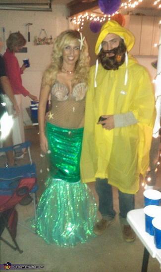 Русалочка и рыбак на Хэллоуин