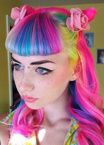 Цвет волос полосами