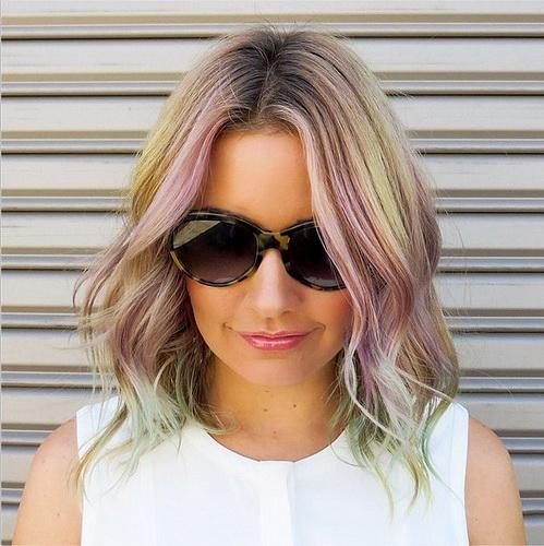 Оригинальный цвет волос - жемчужный шик
