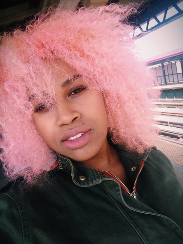 Оригинальный цвет волос - сахарная вата