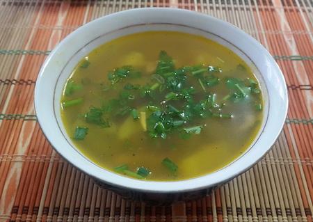 Суп с грибами вешенками
