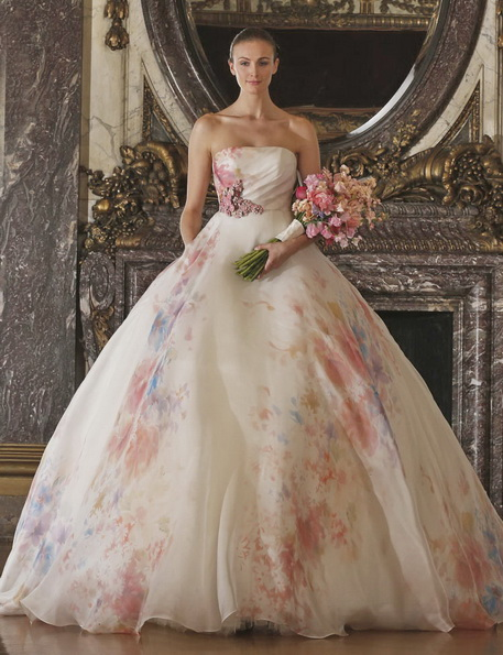 Свадебное платье розового цвета - Romona Keveza