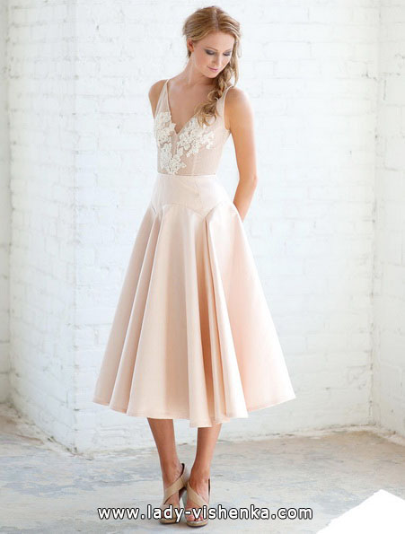 Розовое свадебное платье 2016 - Tara LaTour