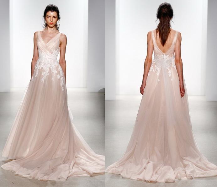Розовое свадебное платье 2016 - Kelly Faetanini