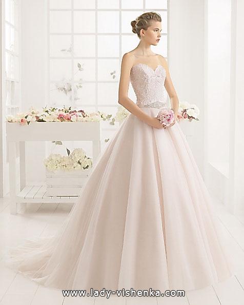 Розовое свадебное платье 2016 - Aire Barcelona