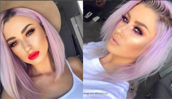 Розовый цвет волос 2018