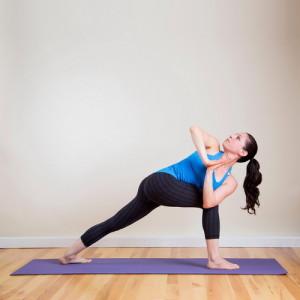 Поза йоги Боковой угол отклонения