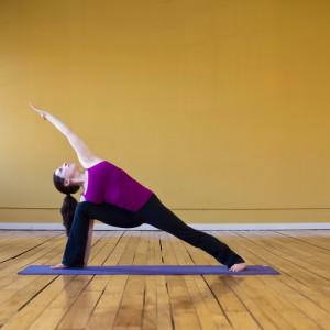 Поза йоги - угол отклонения