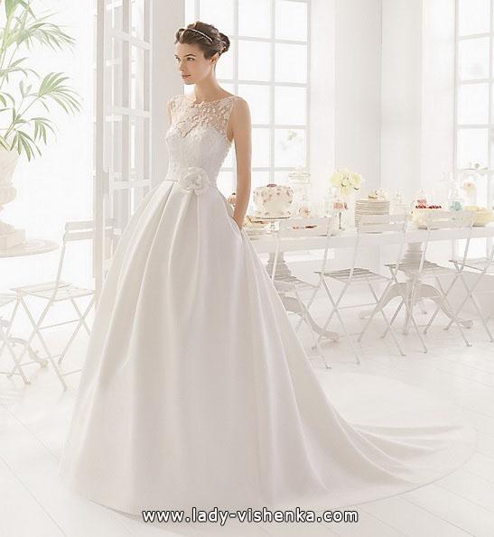 Атласное свадебное платье принцессы - Aire Barcelona