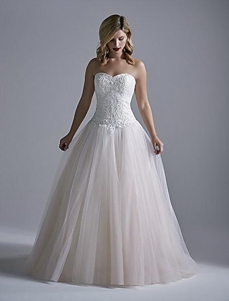 Розовое свадебное платье принцессы - OPULENCE